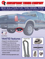 New Ford diesel pick-up truck twin pipe solution!