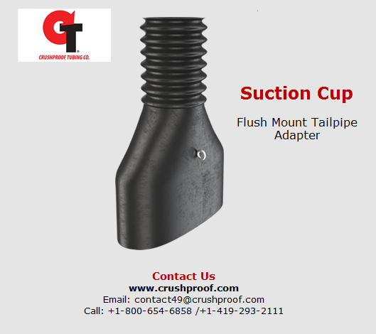 Suction cup flush mount tailpipe adapter